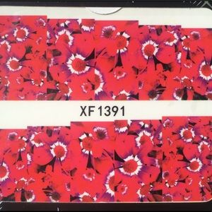 Other - NWT Nail Art Waterslide Tattoos Red Impatiens